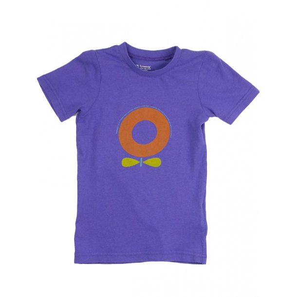 T-Shirt in lila Bio Baumwolle mit Apfel
