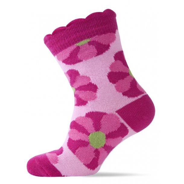 Rosa Socken mit pink Blumen