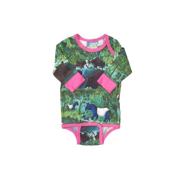 Scherfig Dschungel Bio Body in grün/pink