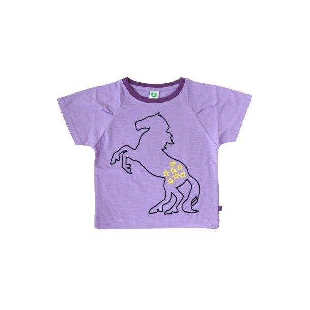 Lila T-Shirt mit Pferd