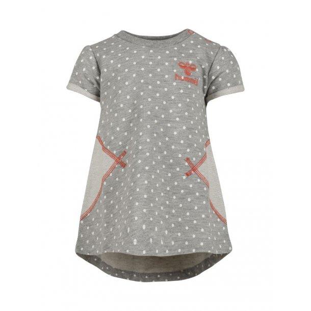 Schickes graues Baby Kleid mit kleine weiße Punkte