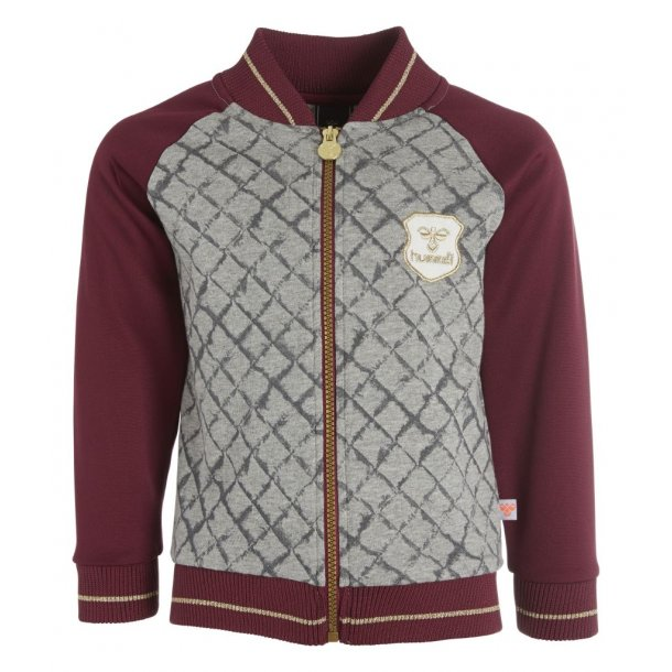 Schicke bordeaux - grau Jacke für Girls