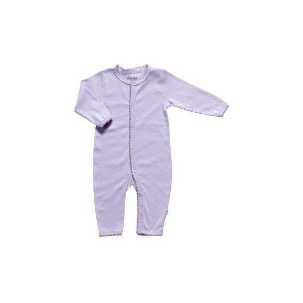 Bio Baby Strampler aus Lila Baumwolle
