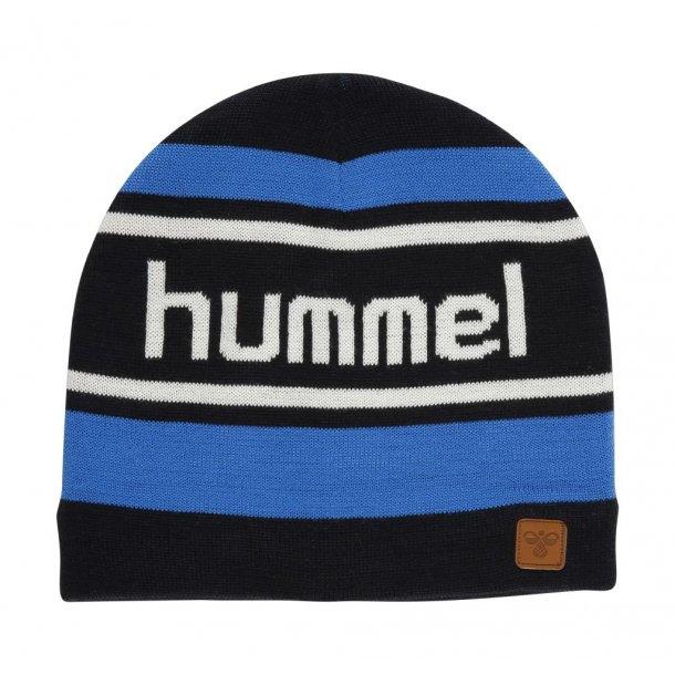 Haube, Navy, blau, weiss gestreiften - ROB BEANIE - von Hummel