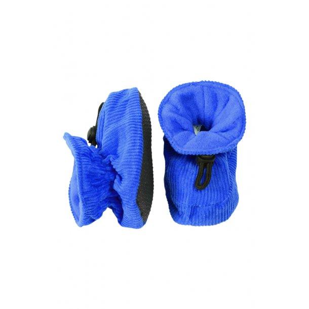 Hausschuhe in Cord, blau - 2=13