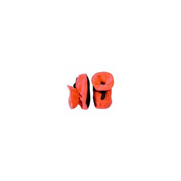 Niedliche Hausschuhe in Cord, orange - 2=13