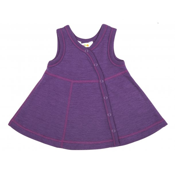 Lilla Kleid aus Wolle