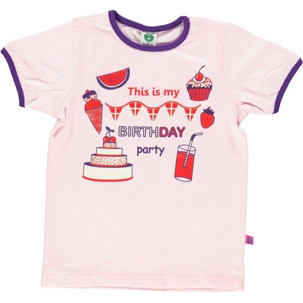Hellrot T-Shirt mit Geburtstagsfeiern von Smafolk