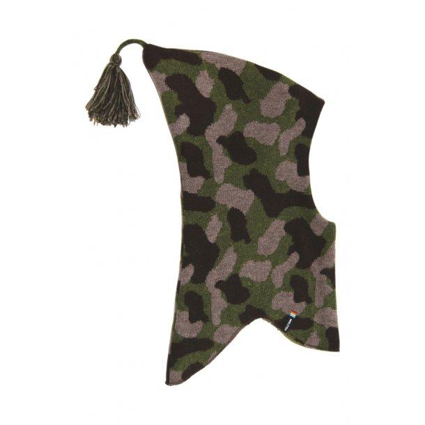 Woll-Elefantenmütze mit carmuflage-Muster von Melton