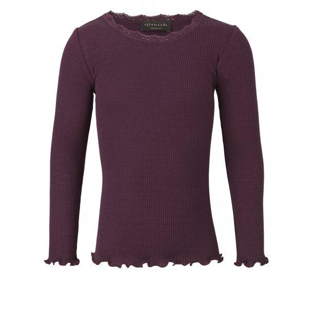 Rosemunde - Shirt in schönes Seide-Baumwolle - mulberry