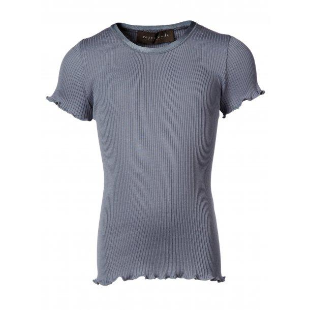 T-shirt in schöones Seide-Baumwolle - grau