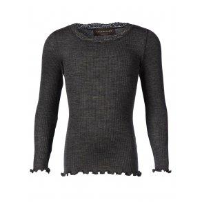 f951fbce2ea4 Lækker mørkegrå bluse i 100% uld - Fra Rosemunde