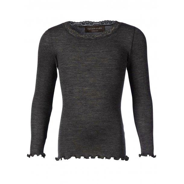 Grau Shirt in 100% Wolle - Von Rosemunde