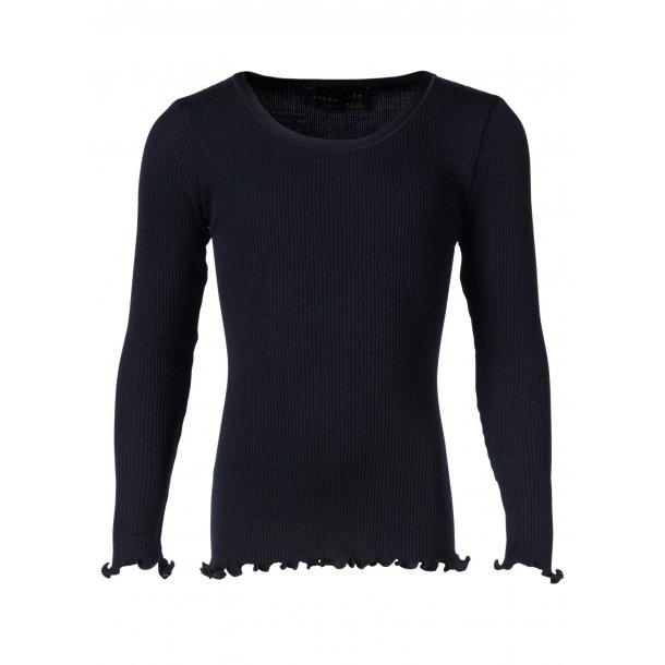 Navy Shirt in schönes Seide-Baumwolle - Von Rosemunde