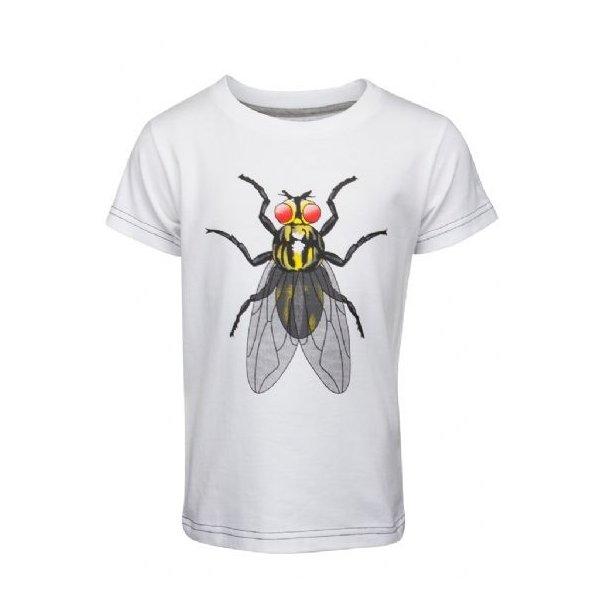 T-Shirt, Weiß mit einer Großen Fliege