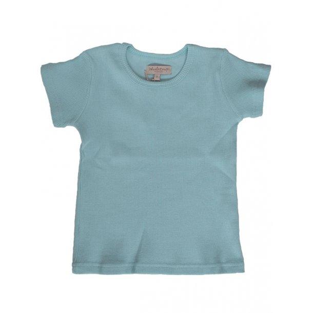 Hellblaues Ripp T-Shirt