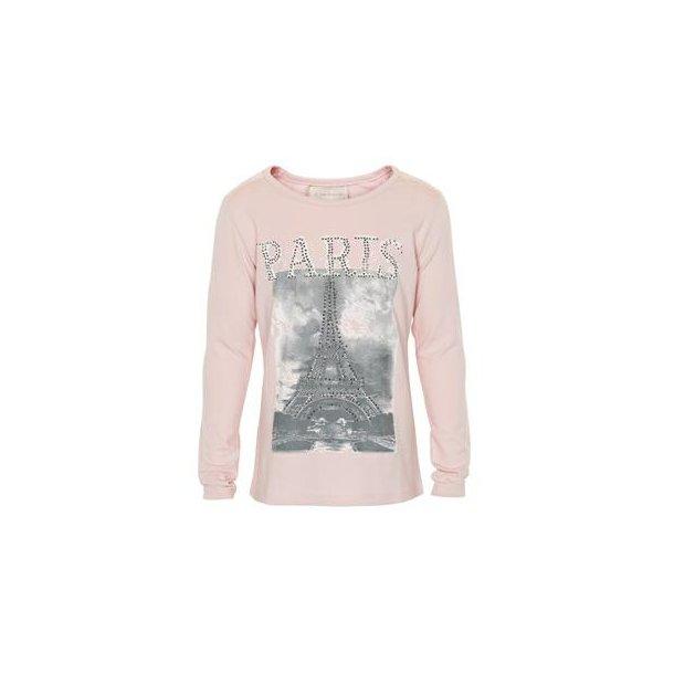 Bluse in Altrosa mit Print und Steine