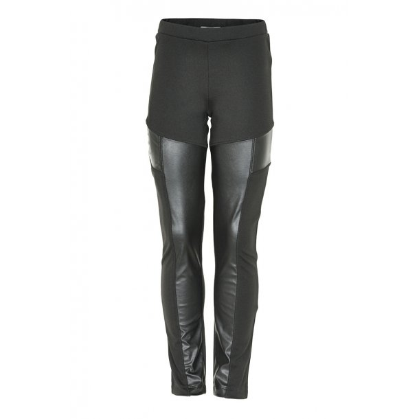 Cool schwarze Leder-Look Laila Leggings - Von Creamie