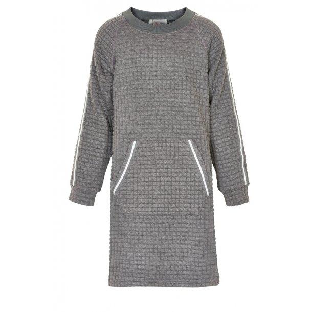 Caroline Kleid in grau mit Streifen - Von Creamie