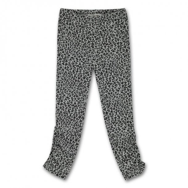 Graue Leggings Leopard Muster