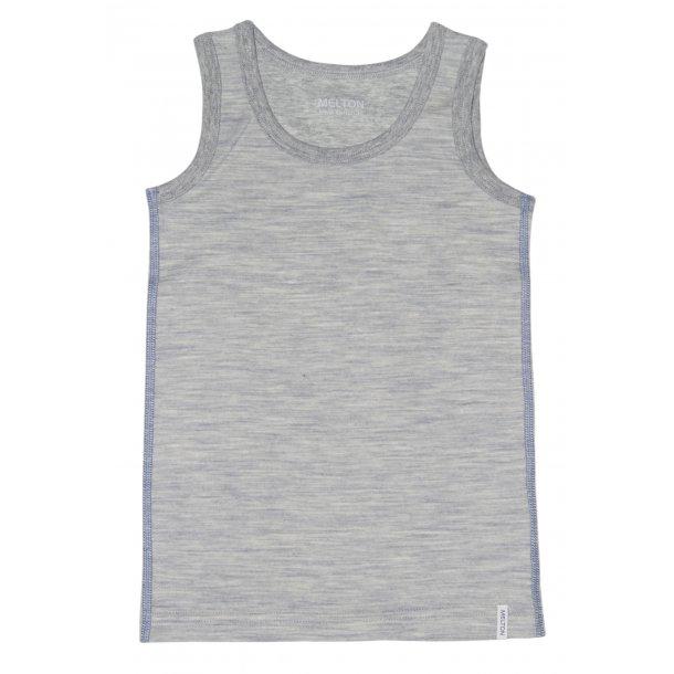 Unterhemd i grau in Wolle