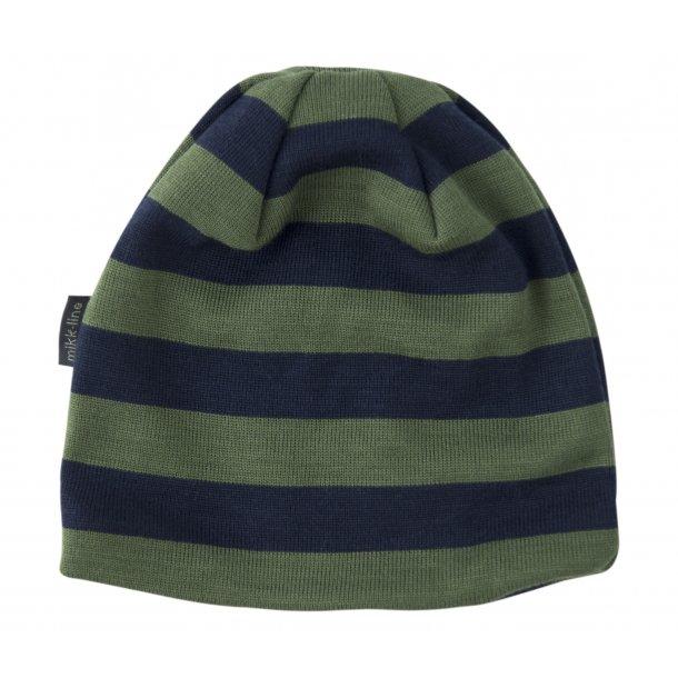 Cool Mütze mit Navy und dunkel grün streiften - Von Mikk-Line