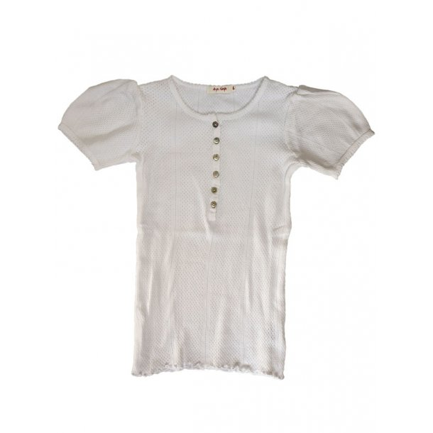 Retro Bluse in weiss