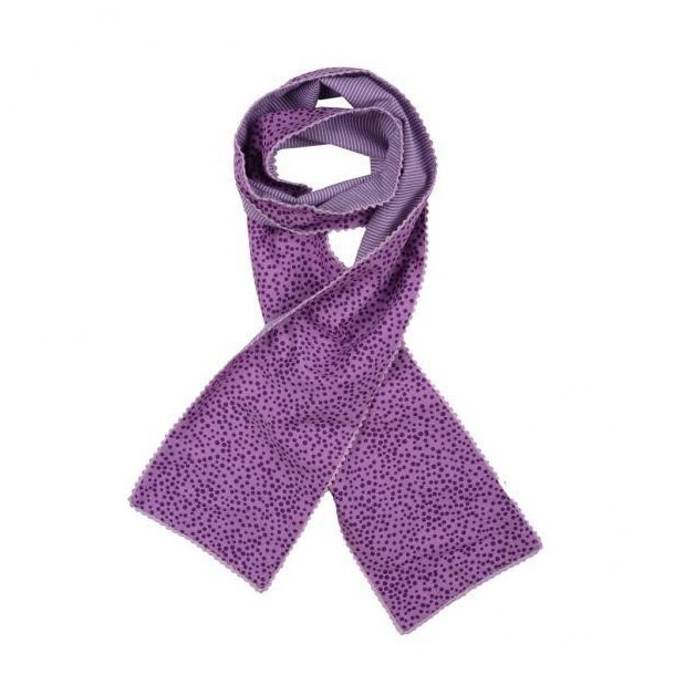 Gepunktet / gestreiften Schal in Lila Farben