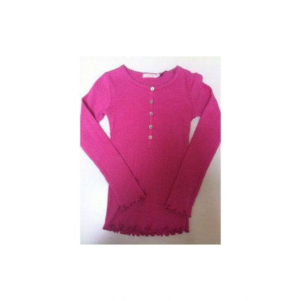 Lochmustershirt in Pink