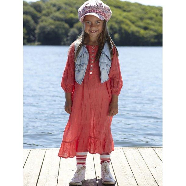 Hübsches Knitterkleid in Rouge-Red