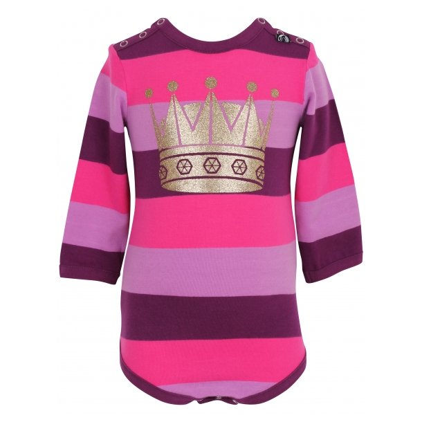 Lila-pink gestreiften Body mit Krone