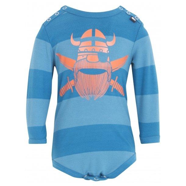 Tollem Body in blaue Streifen mit cool orangen Pirat - Von Danefae