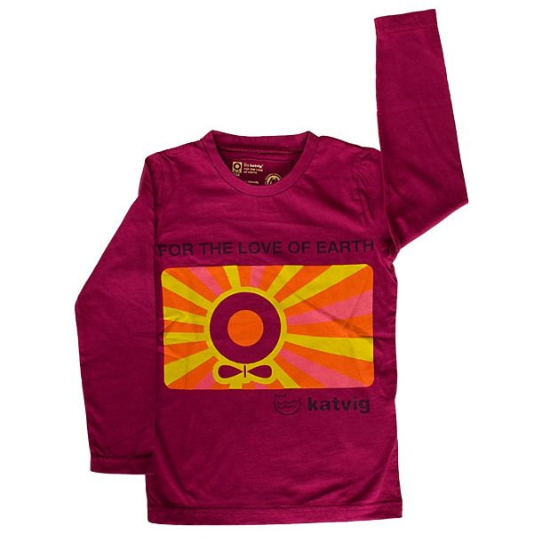 Shirt mit Sunny Apple, ökologisch