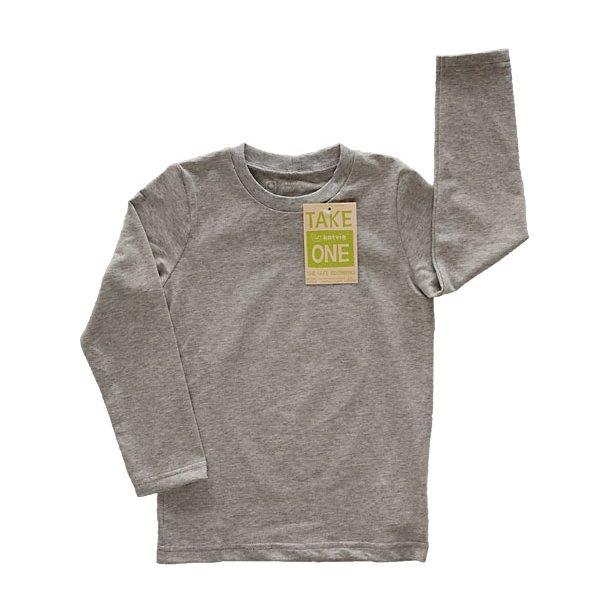 Grau-meliertes One Bio-Shirt