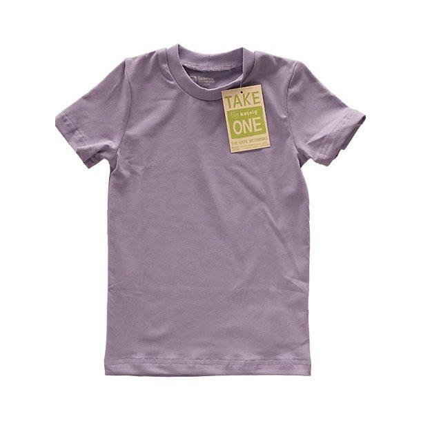 Shirt, Fliederfarbenes ökologisch Baumwolle