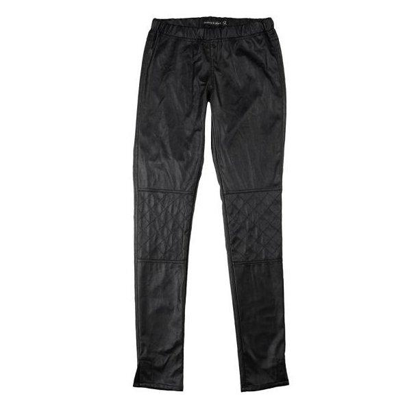 Cool schwarze Leder-Look Leggings