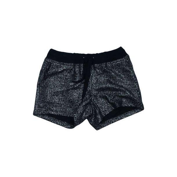 Cool Shorts in schwarz mit Silberglittergestreiften