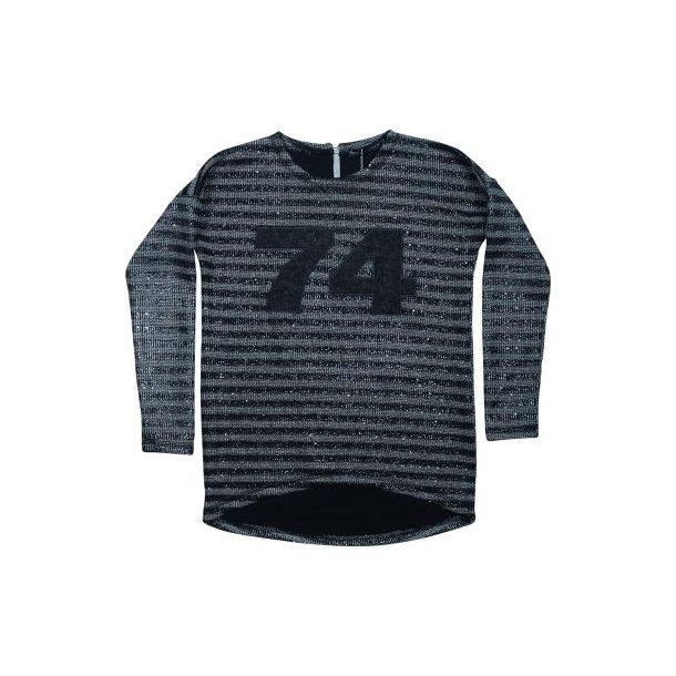 Cool Strick im schwarz und grau gestreiften