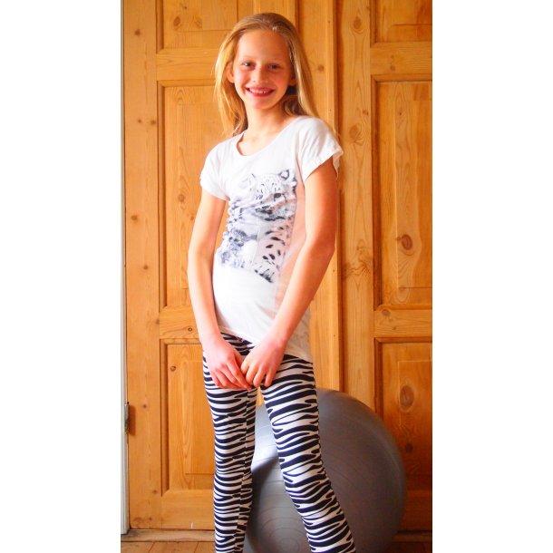 Zebra-gestreiften Leggings