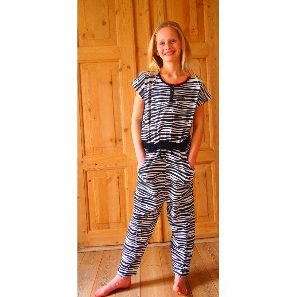 Zebra-gestreiften Jump-Suit