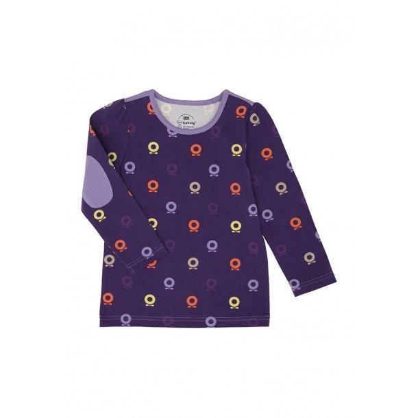 Shirt in lila mit Big-Apple, ökologische