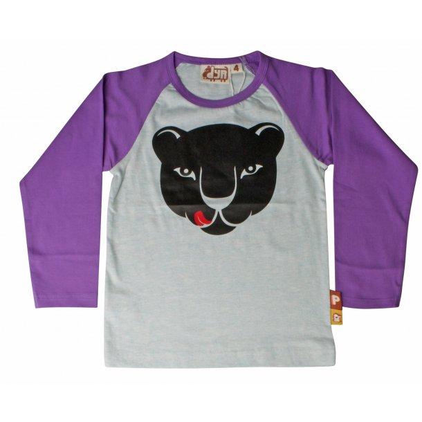 DYR CPH - Danefae SNORT Shirt - Hell und dunkel Lila mit einem Panther