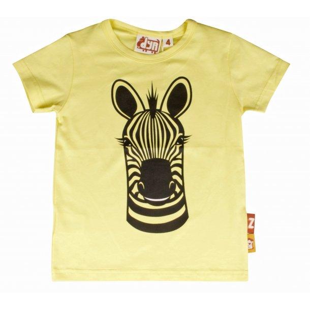 DYR CPH - Danefae ZEBRA T-shirt - Gelb mit einem Zebra