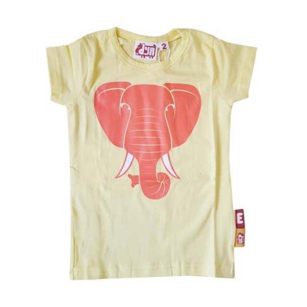 DYR - Danefae Club T - Limette T-Shirt mit Pink Elefant