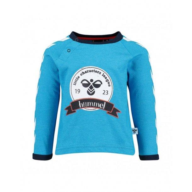 Hummel BULLER Shirt - Turkismeliert mit Print