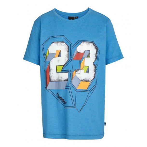 Hummel Jacob T-Shirt - Turkis Mit Print 23