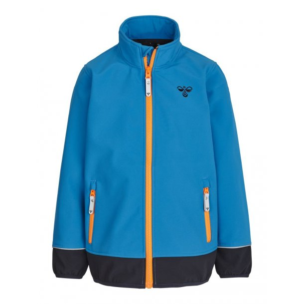Hummel KEATH softshell Jacke - Turkis, neon Orange und Navy