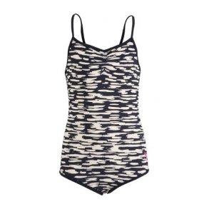 c03d31df4ea Hummel badedragt - Sanne swimsuit - UV50+, i navy-hvid