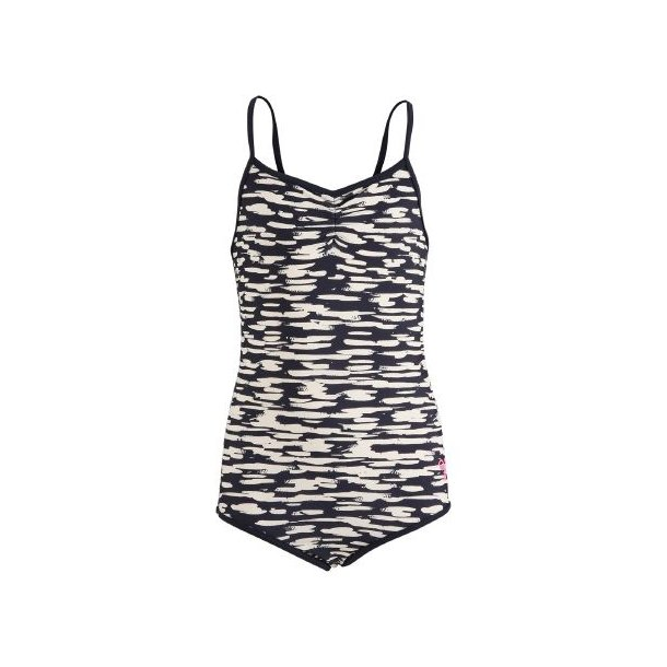 Hummel Badeanzug, Sanne swimsuit, UV50+, Navy-Weiß