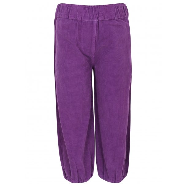 Bequeme Cord Baggy Hosen in Lila